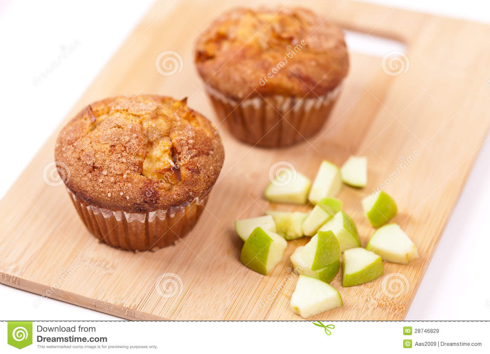 Queques com maçã