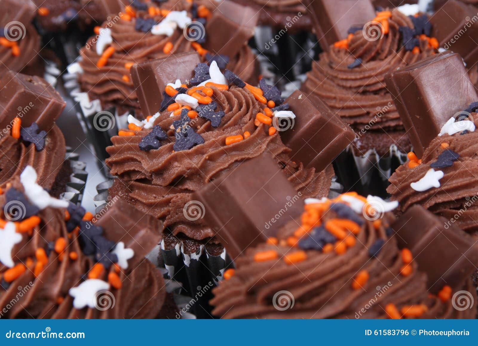 Queques do chocolate do feriado