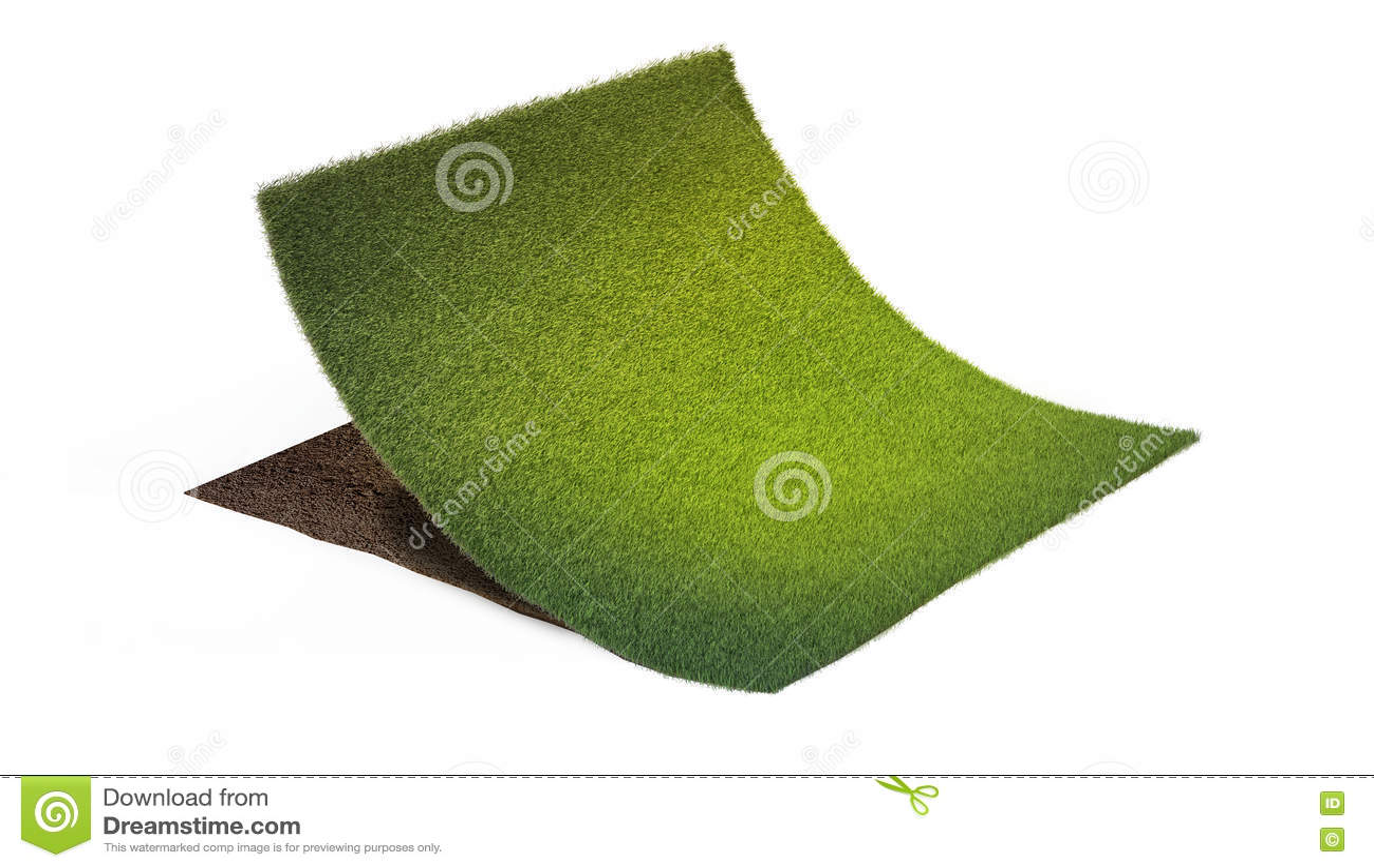 Fußboden Querschnitt ~ Querschnitt boden mit teil rasen stockbild bild von unter land