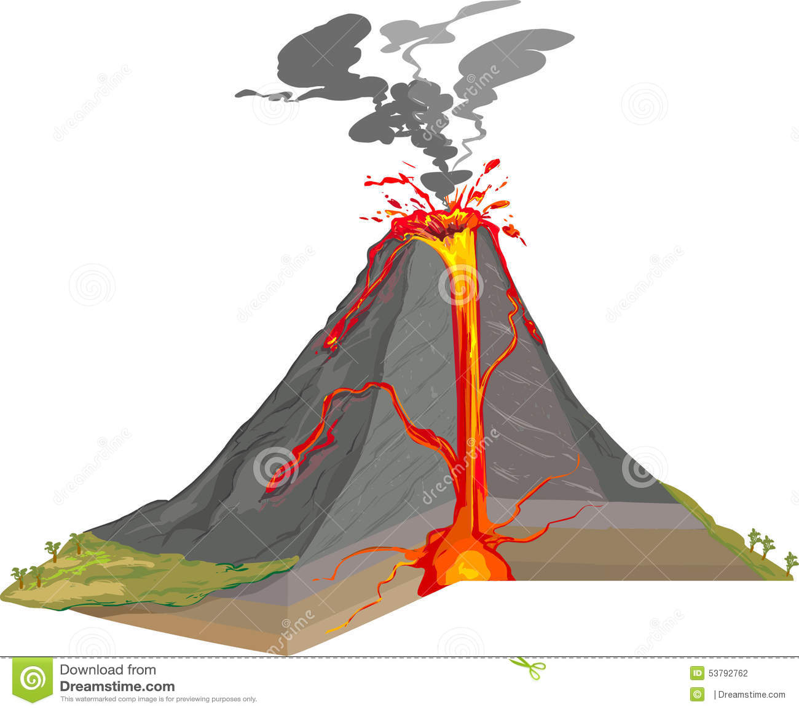 querschnitt des vulkans vektor abbildung illustration von kunst 53792762. Black Bedroom Furniture Sets. Home Design Ideas