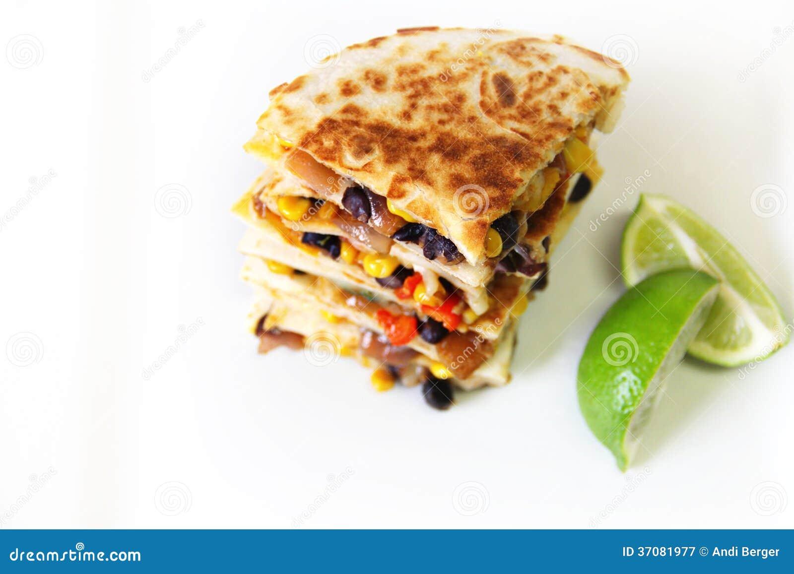 Download Quesadilla Copyspace Opuszczać Obraz Stock - Obraz złożonej z mięso, lunch: 37081977