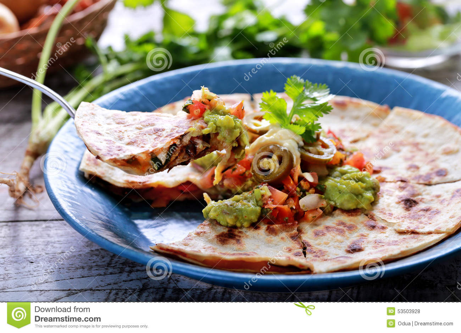 Quesadilla mexicano da culinária