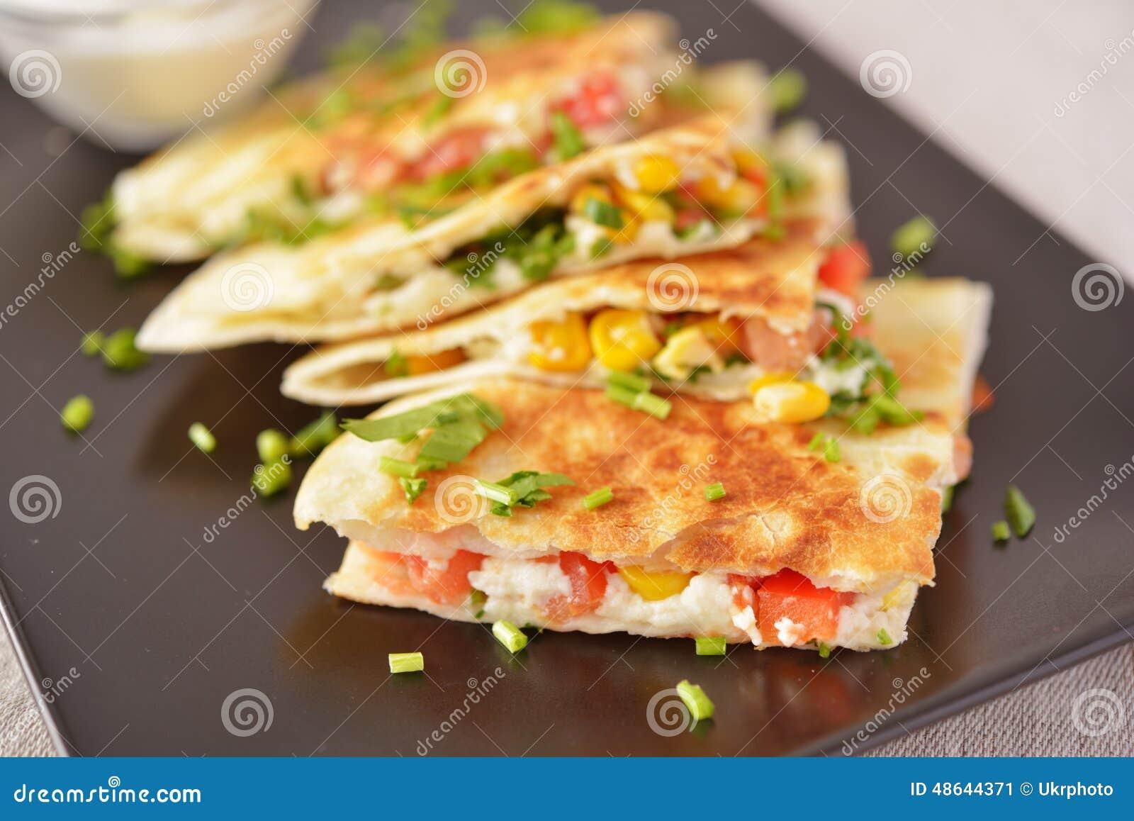 Quesadilla végétarien