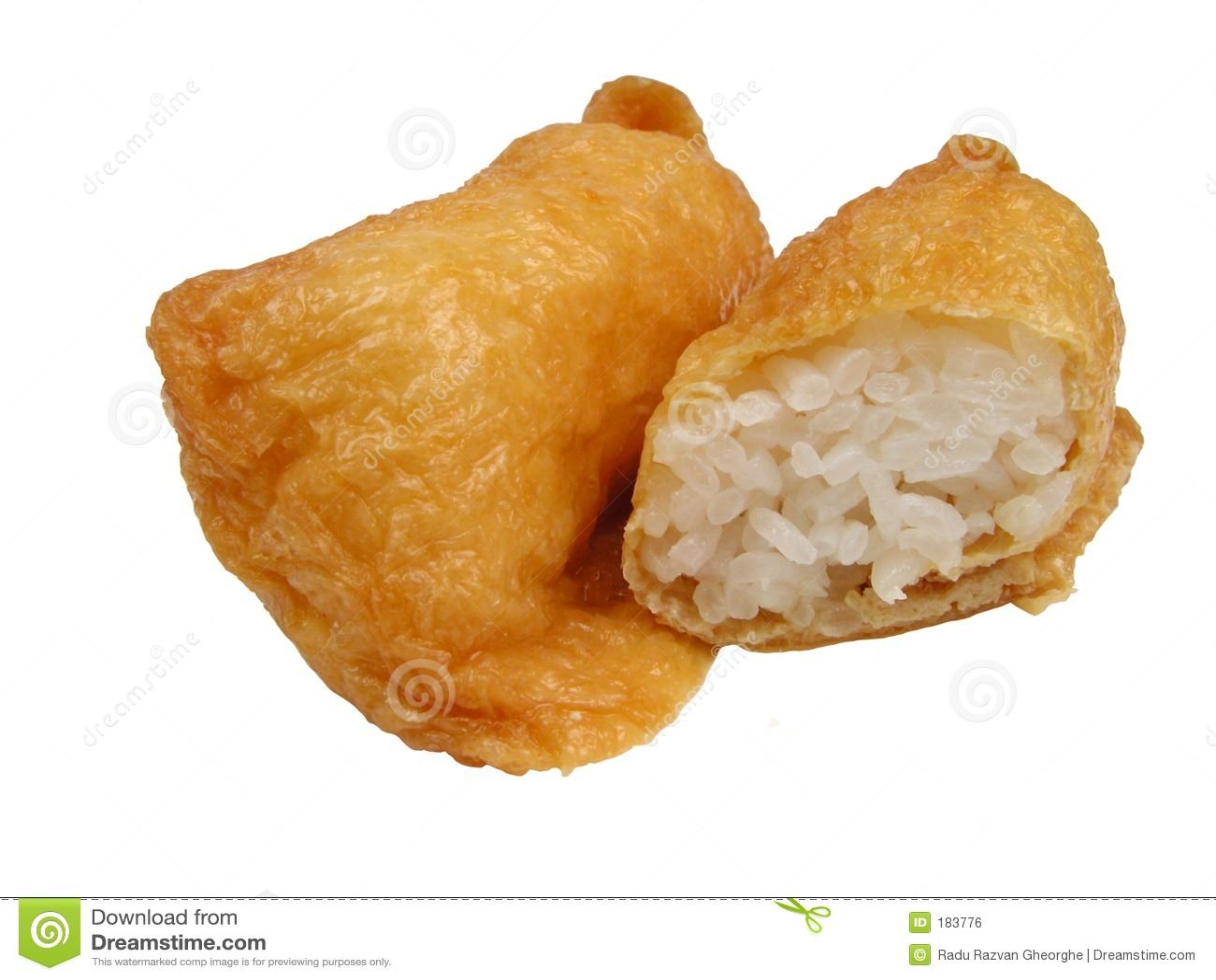 Queso de soja y arroz fritos