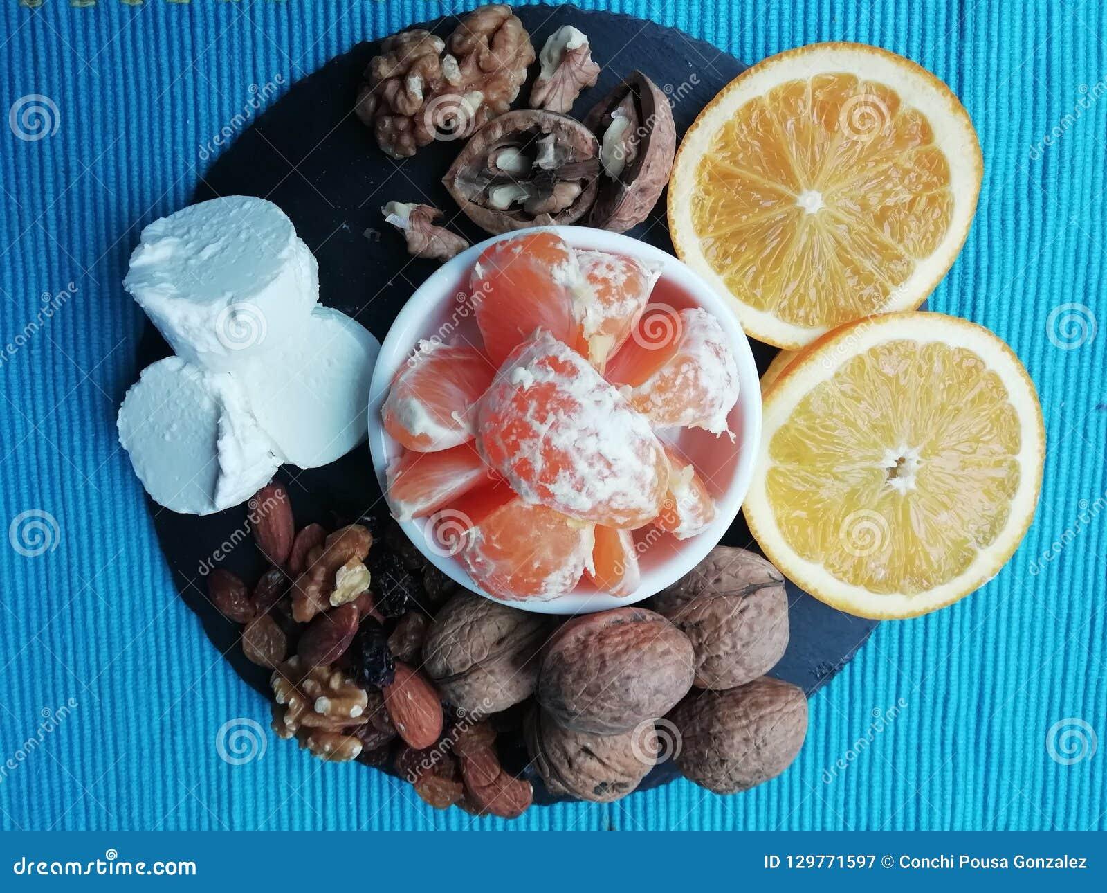 Queso y frutas