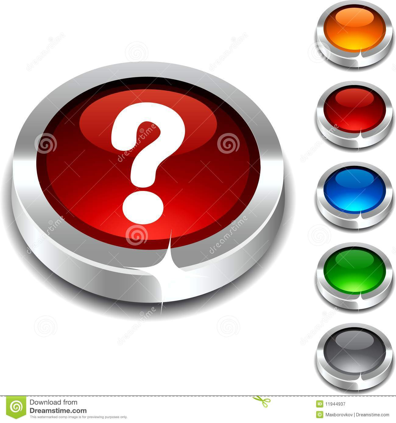 Question 3d Button. Royalty Free Stock Photography