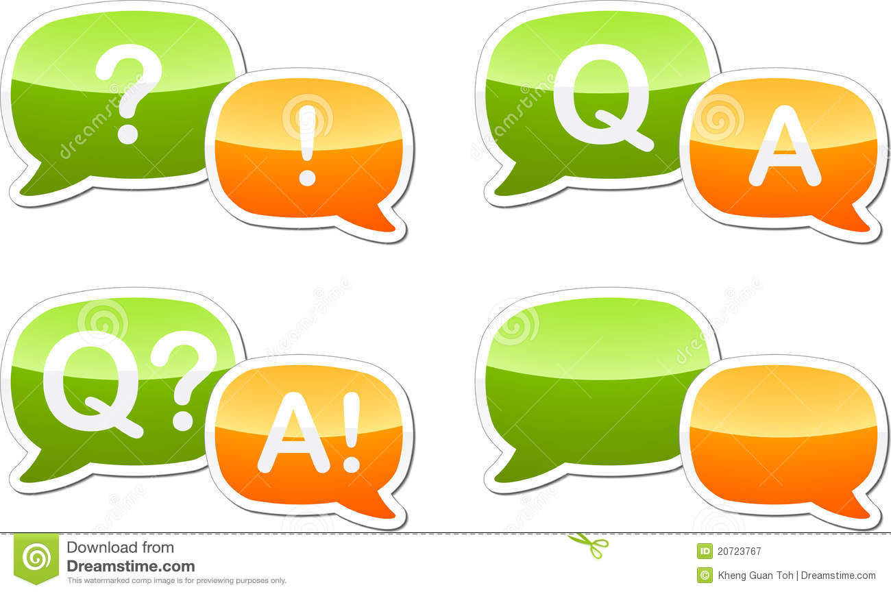 Question Answer Dialog Speech Illustration Royalty Free Stock ...