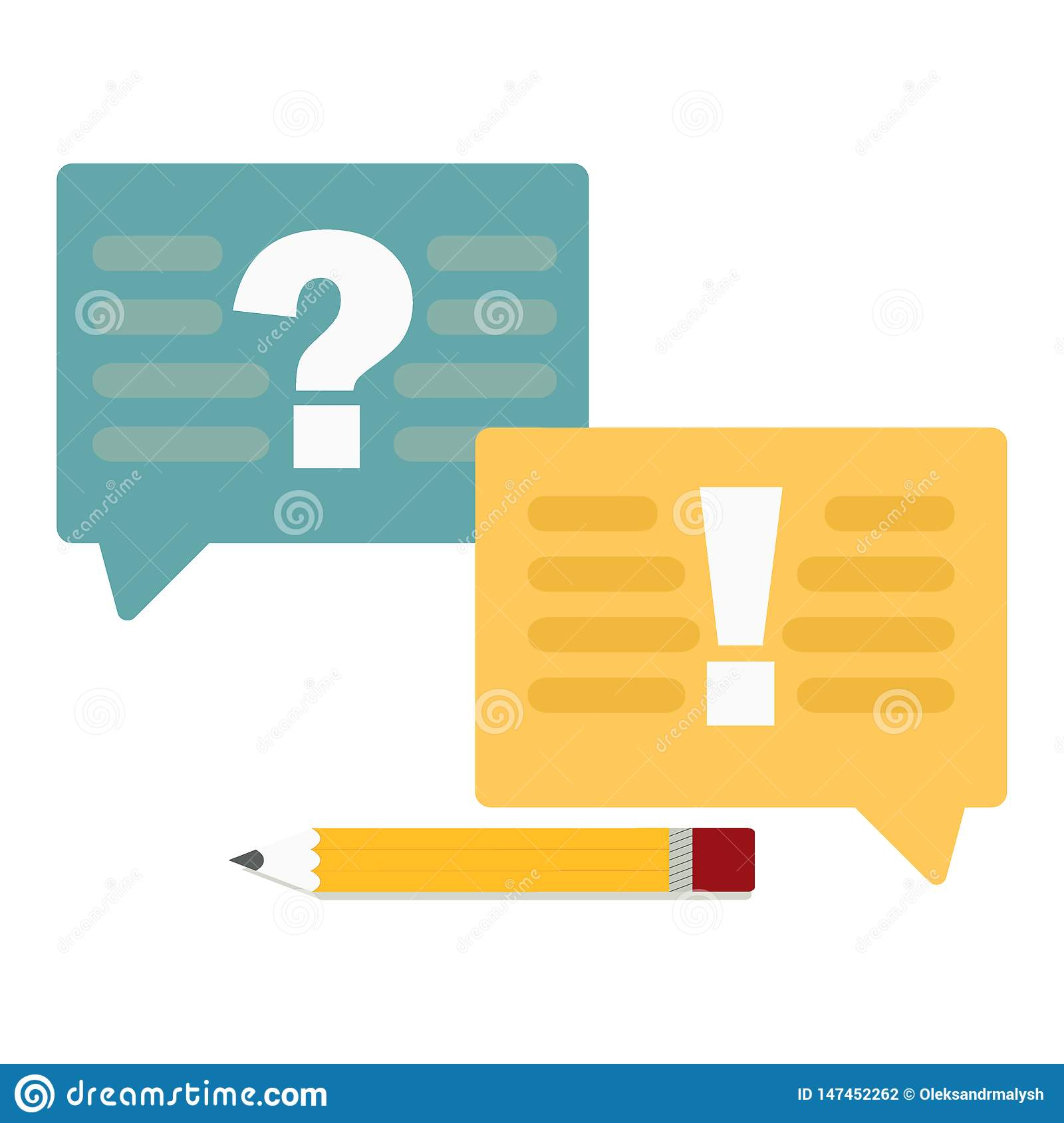 Question And Answer Marks With Speech Bubbles Or Help FAQ ...
