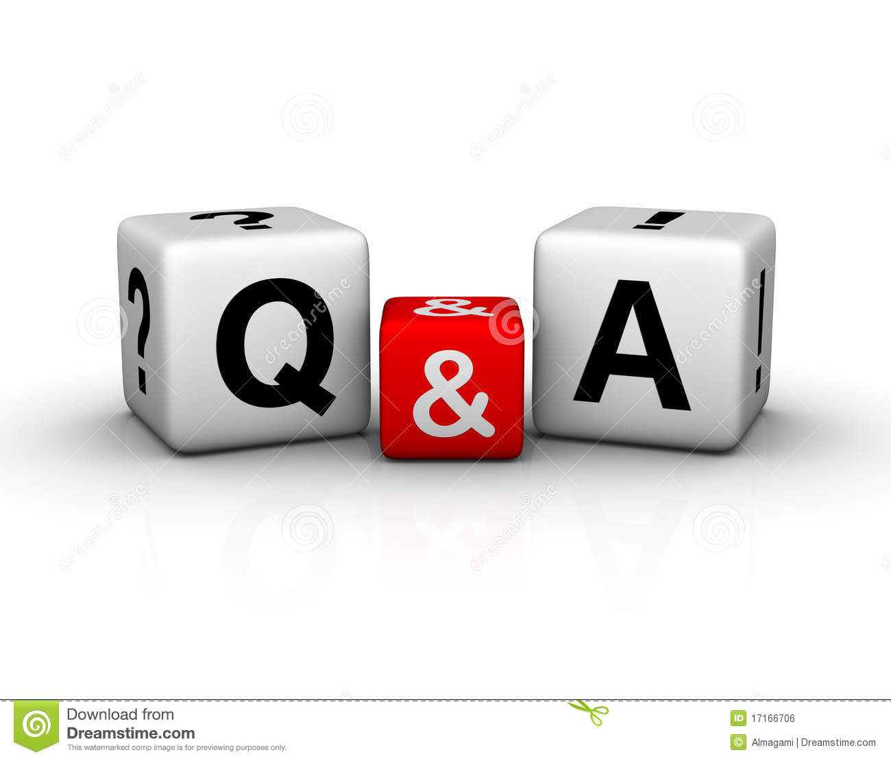 Question And Answers Cubes Symbol Stock Illustration ...