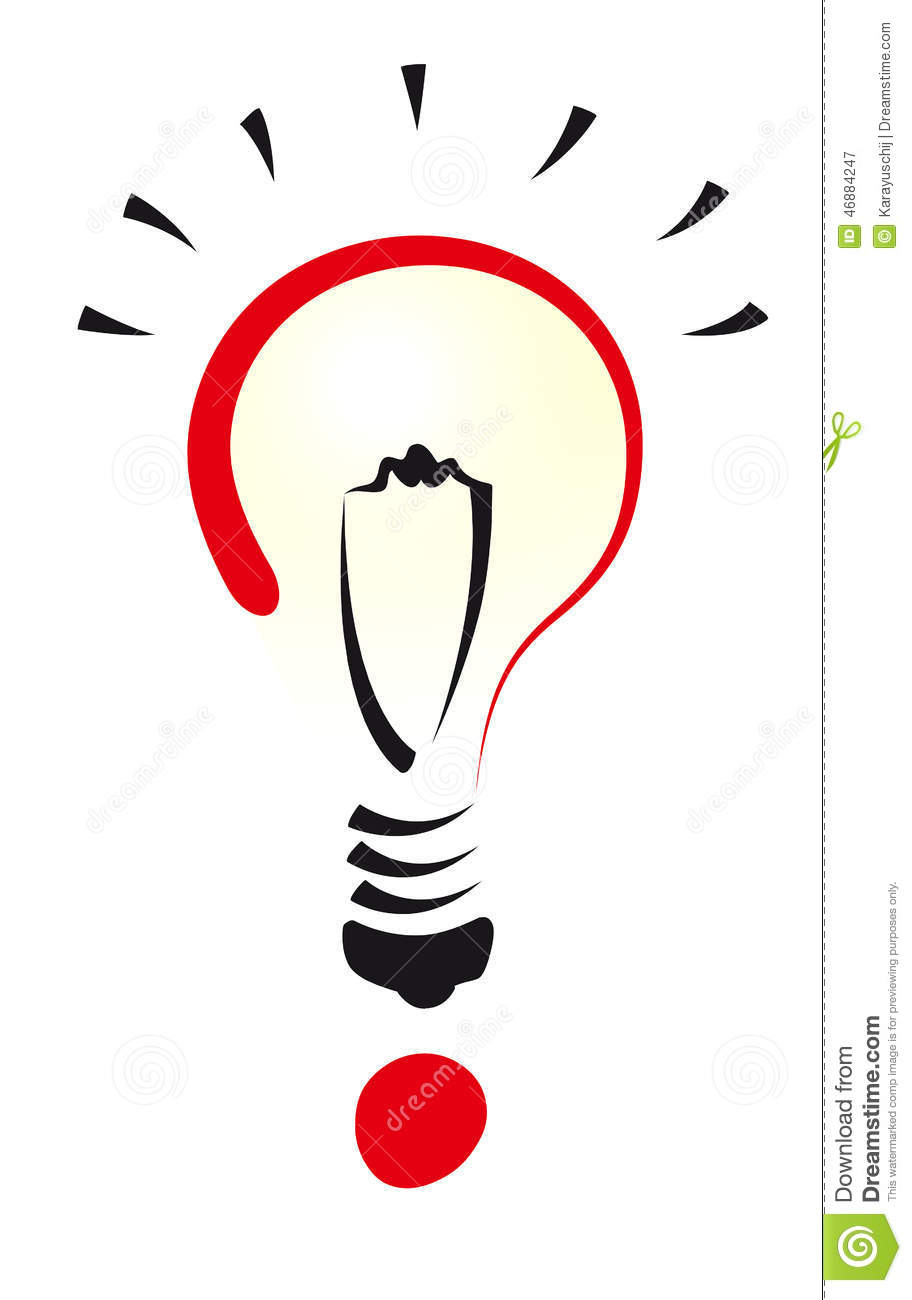 Question Bulb Stock Vector Image 46884247