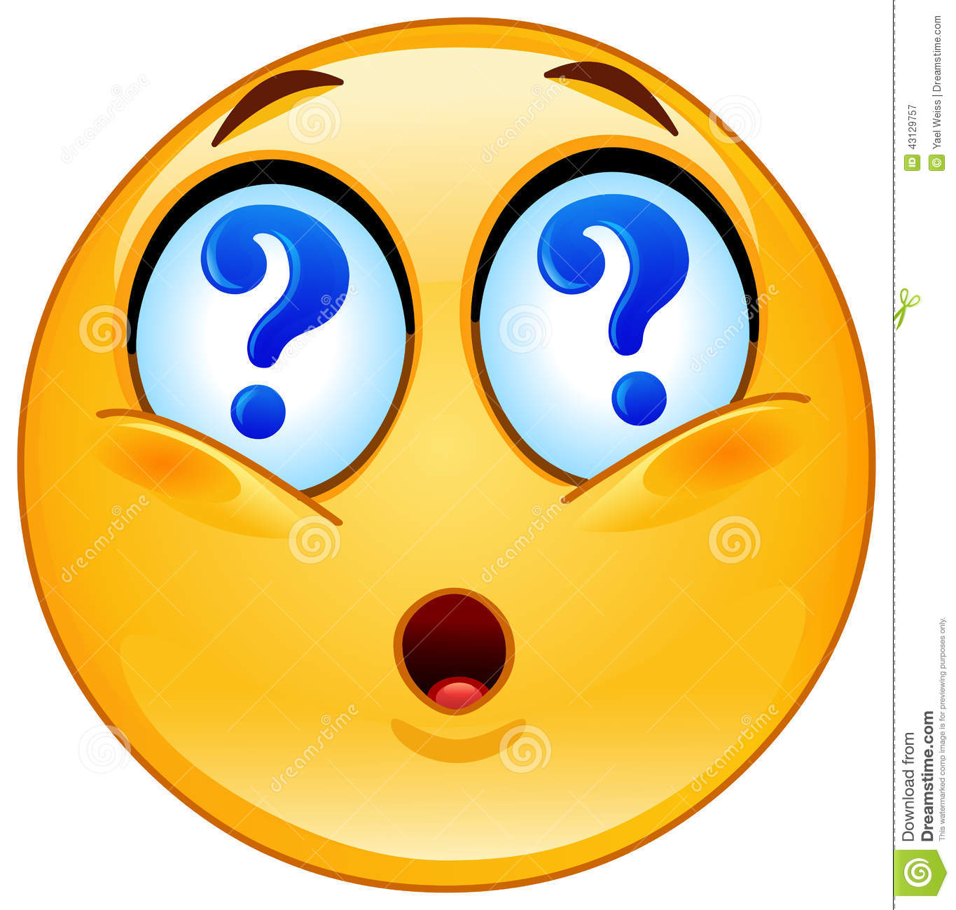 Question Emoticon Stock Vector - Image: 43129757