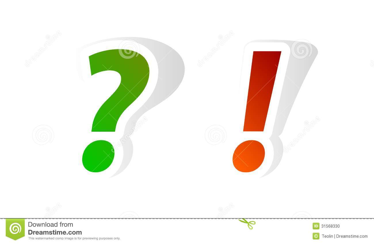Question And Exclamation Marks Stock Vector Illustration Of Mark
