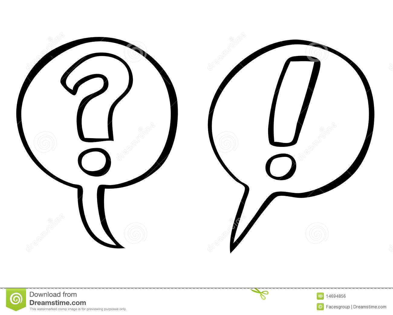 Question And Exclamation Marks Vector Royalty Free Stock Image - Image ...