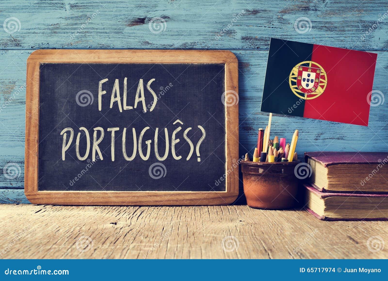 Falas Do Silêncio: Question Falas Portuges? Do You Speak Portuguese? Stock