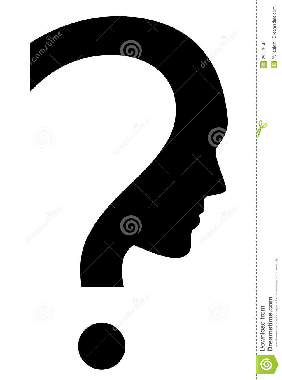 Pics photos clip art cartoon scientist with question mark stock - Question Mark
