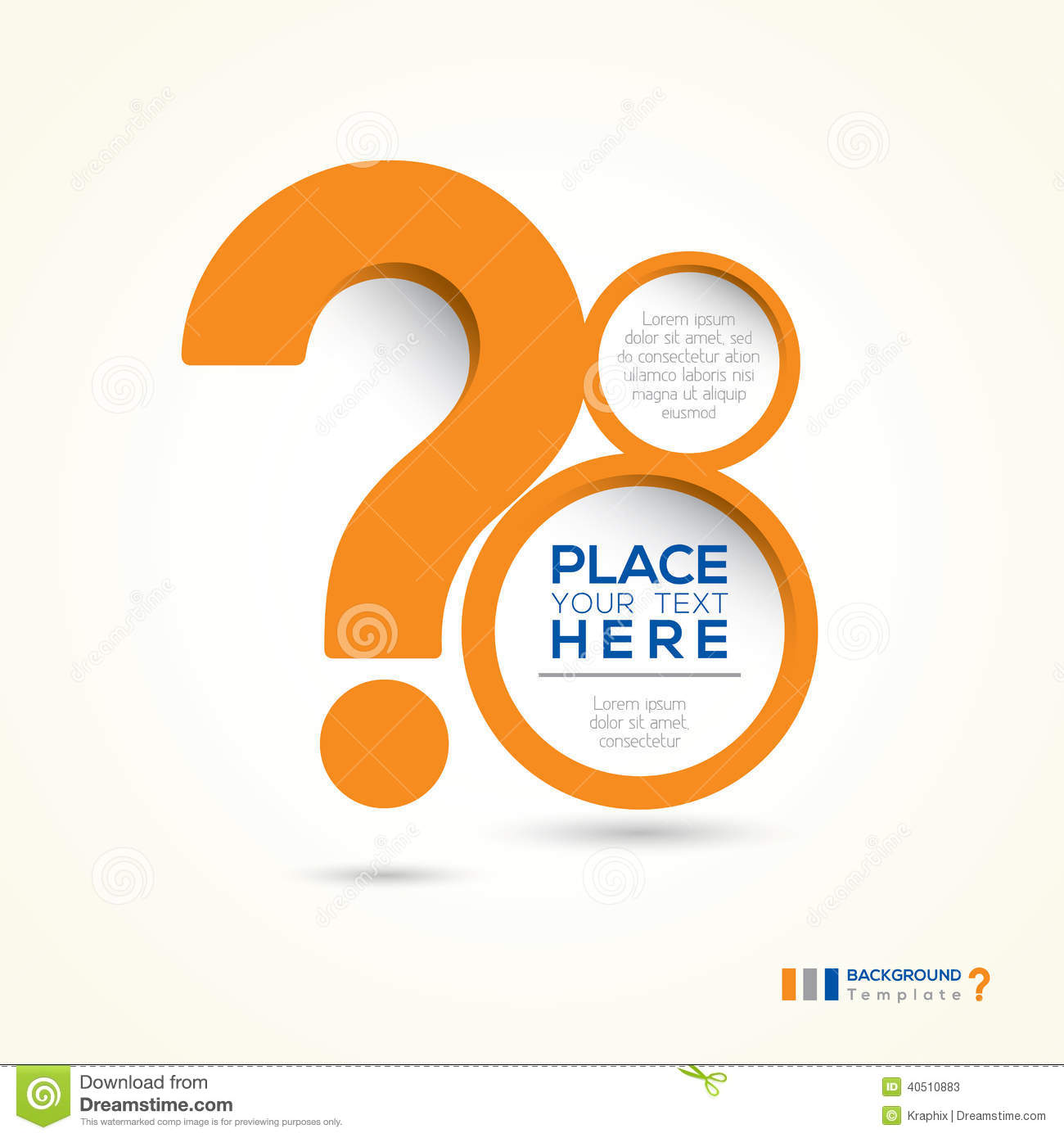 Question mark abstract design layout stock vector image for Decor questions