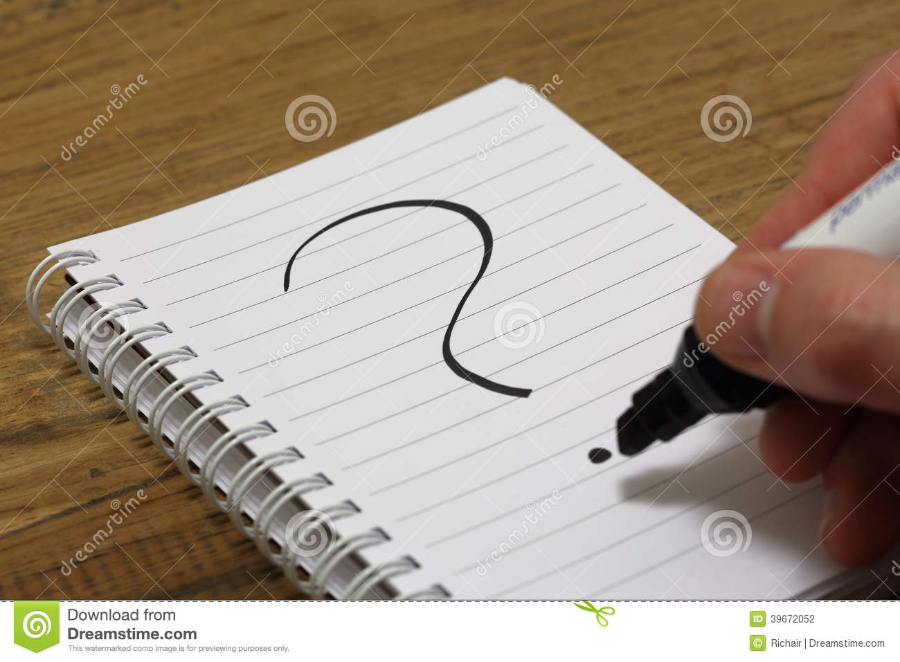 question mark being written on paper stock photo image  question mark being written on paper
