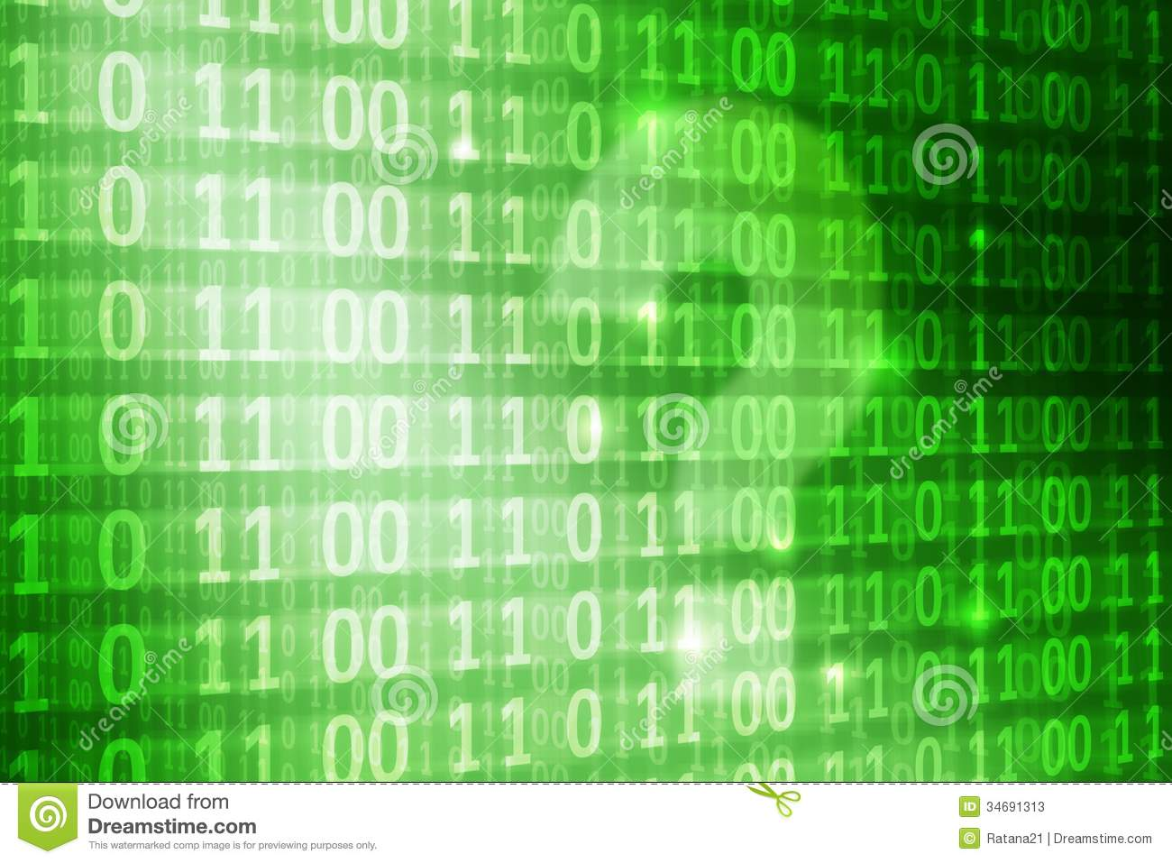 question mark on binary code background stock illustration