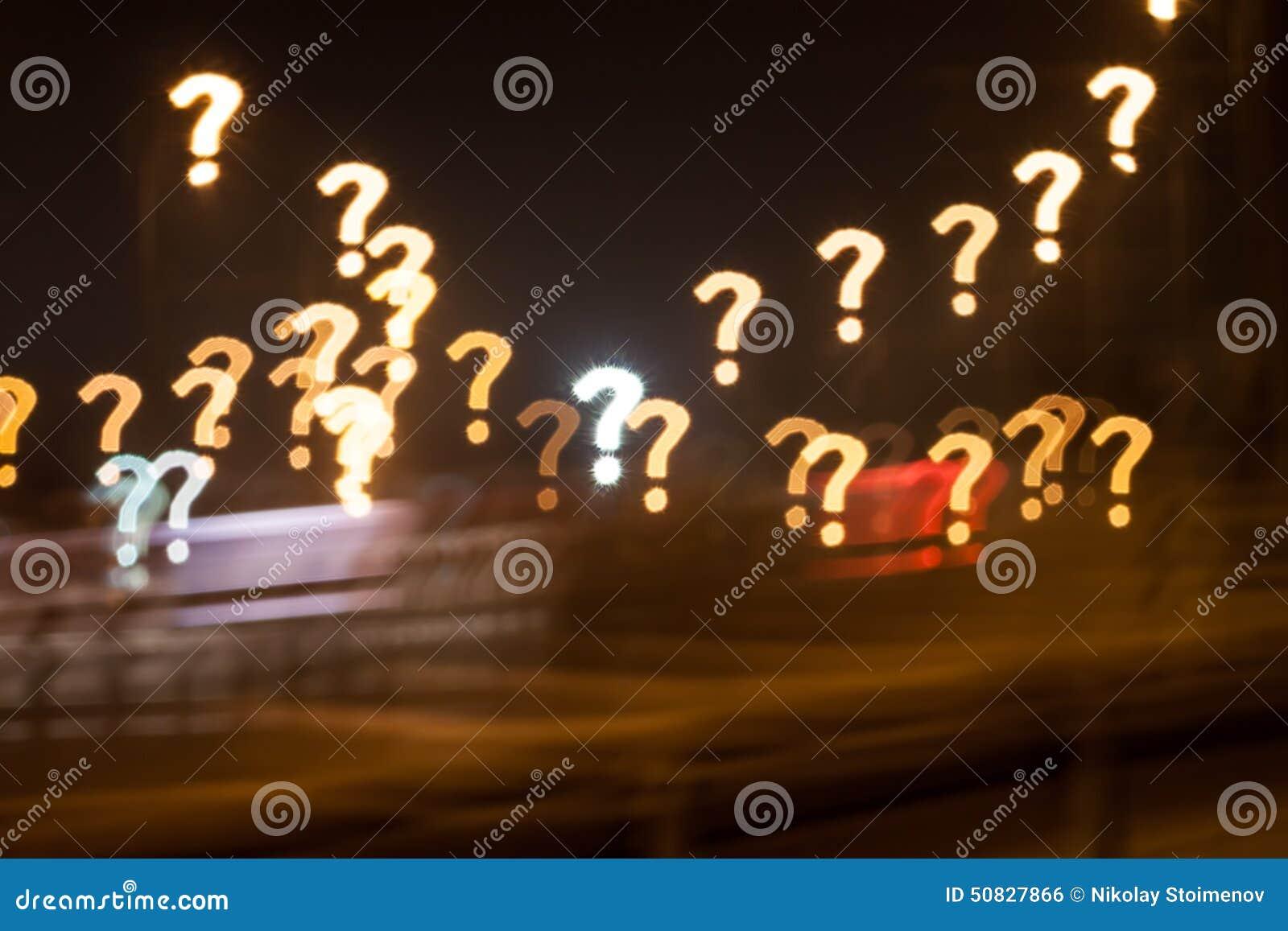 Question Mark Bokeh Stock Photo Image Of Custom 50827866 Christmas Lights On A T Qustom City Street
