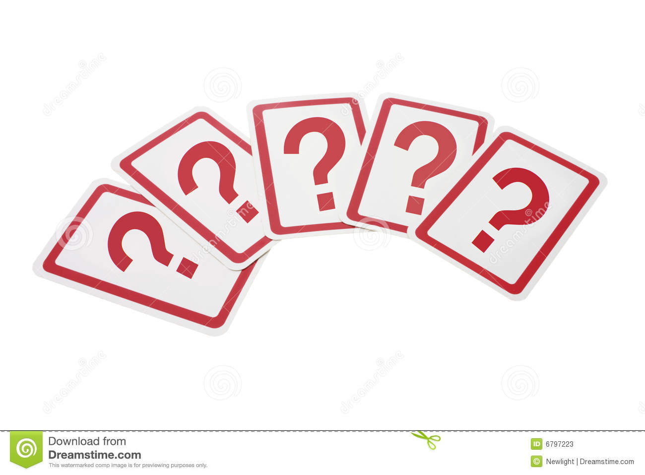 Question Mark Cards Stock Photos - Image: 6797223