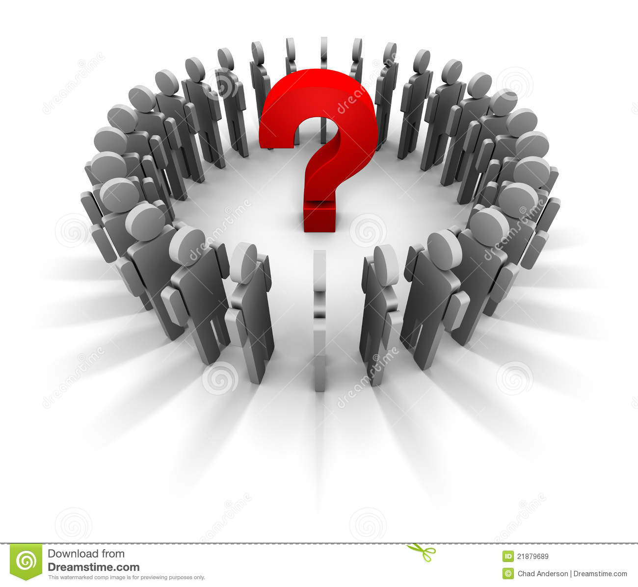 Question Mark Circle Of People Stock Image - Image: 21879689