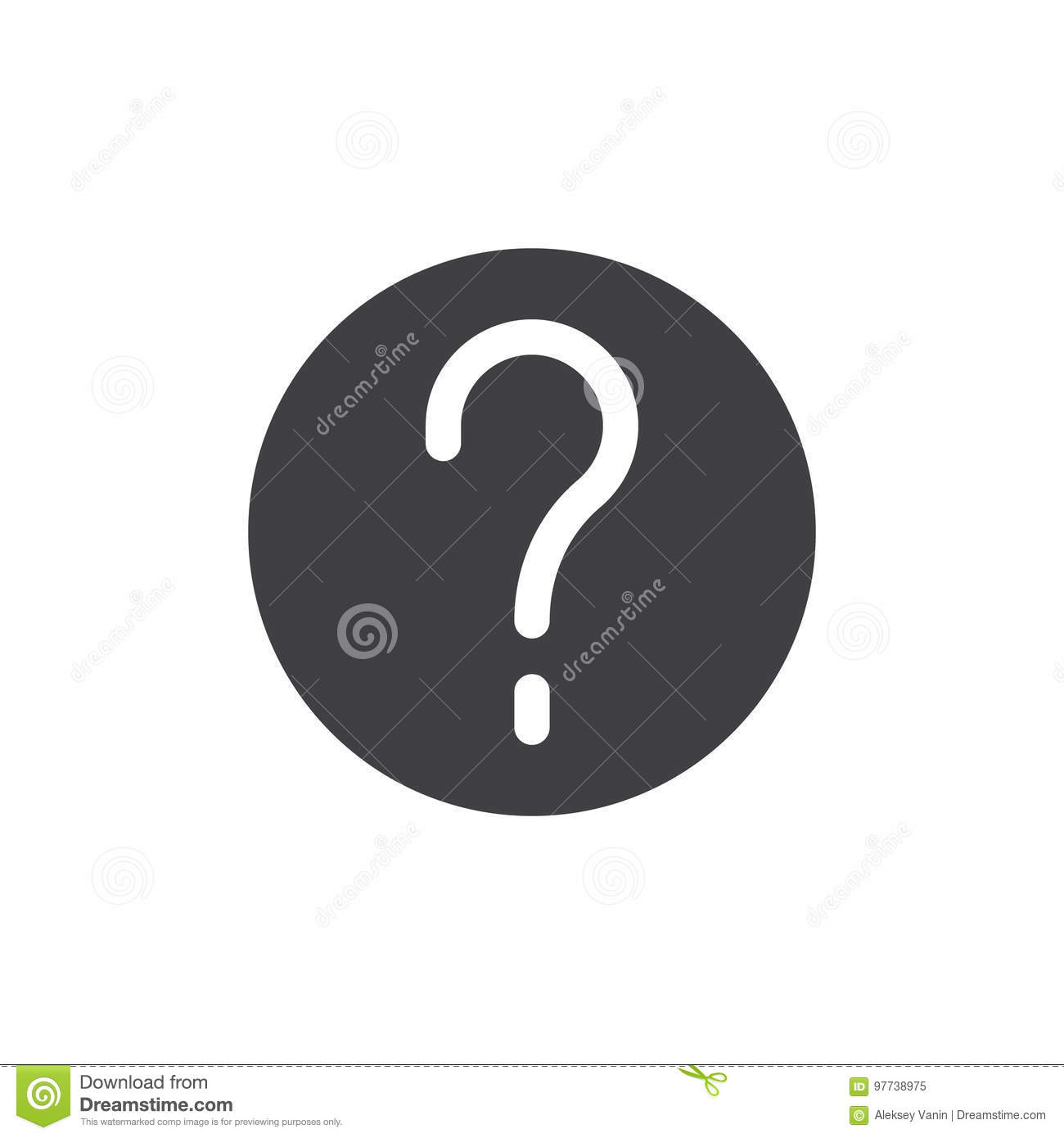 Question Mark In A Circle Simple Icon Vector Stock Vector
