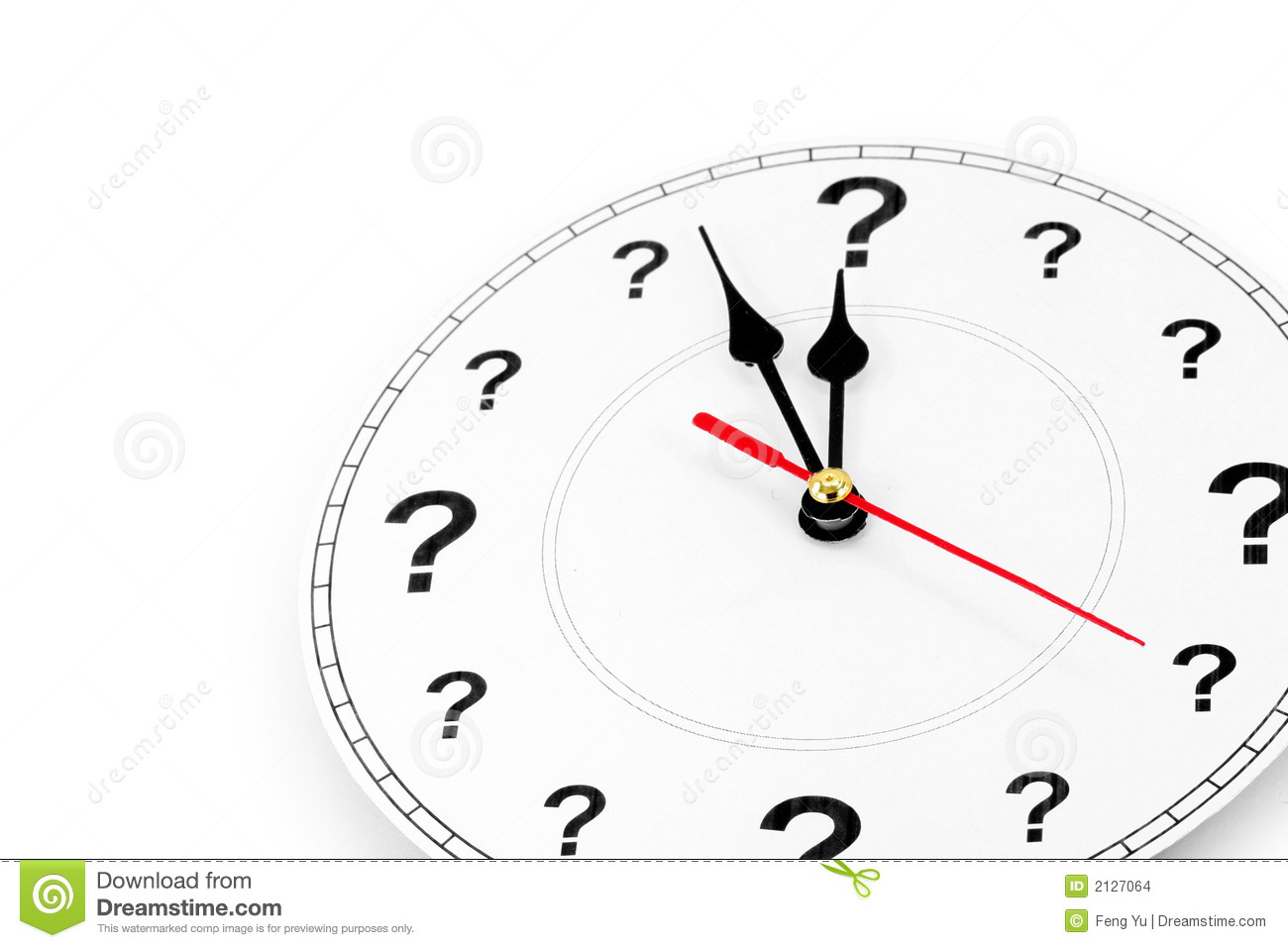 question mark clock stock photo  image of dial  minutes