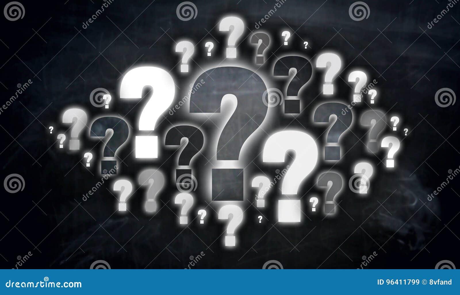 Question mark cloud Concept visualization