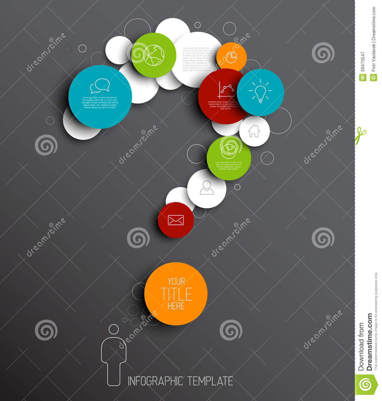 Question Mark - Dark Vector Abstract Circles Infographic Template ...