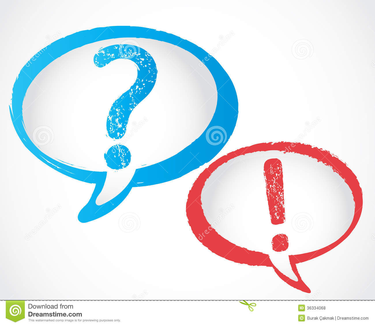 Question Mark And Exclamation Mark Royalty Free Stock Photos - Image ...