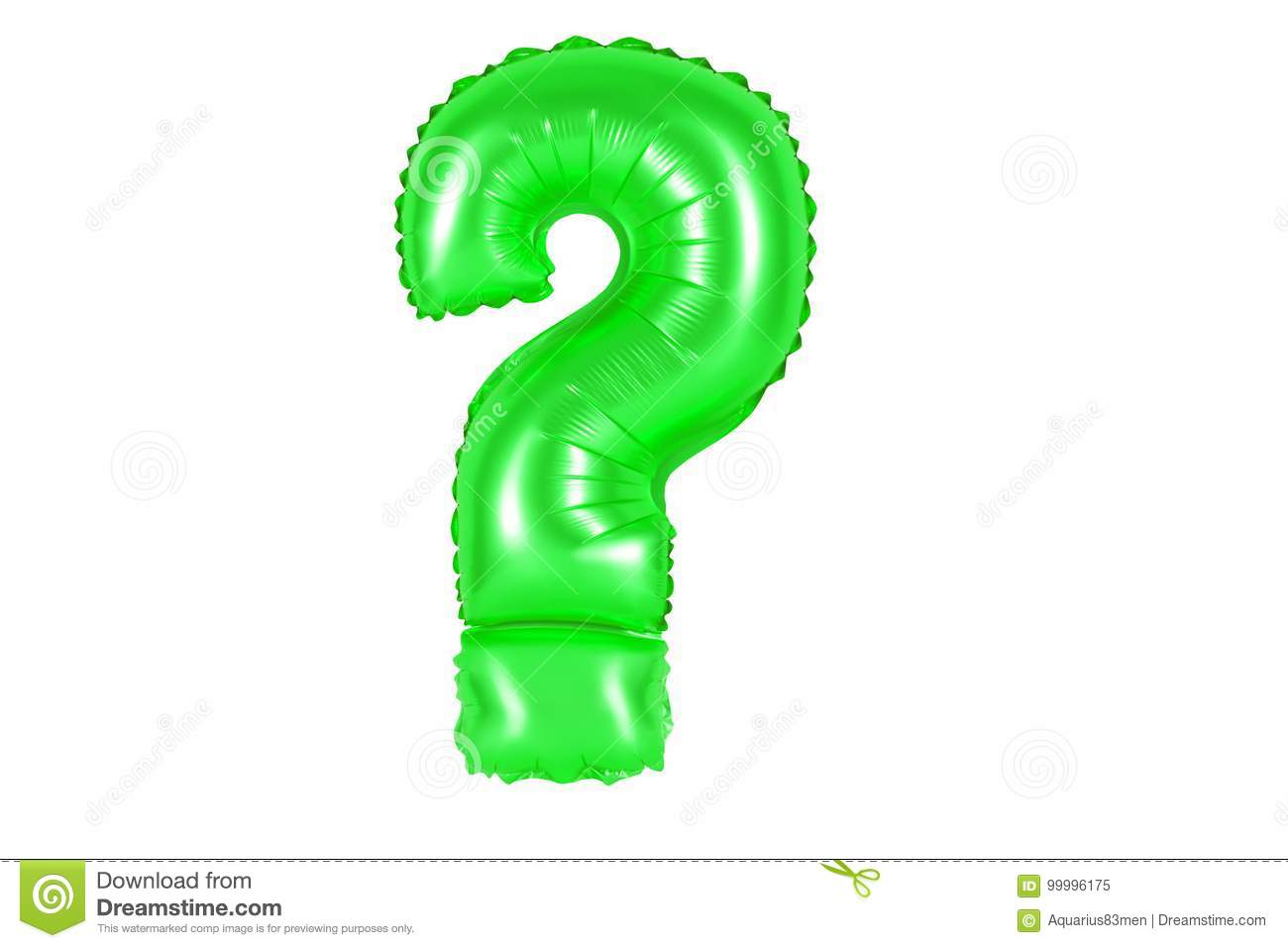 Question mark, green color stock image. Image of accent - 99996175