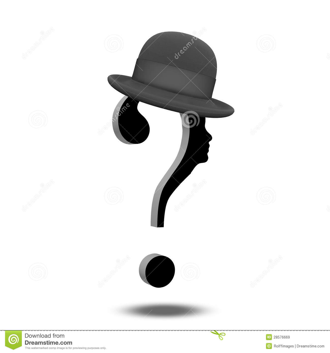 Question Mark with Hat...