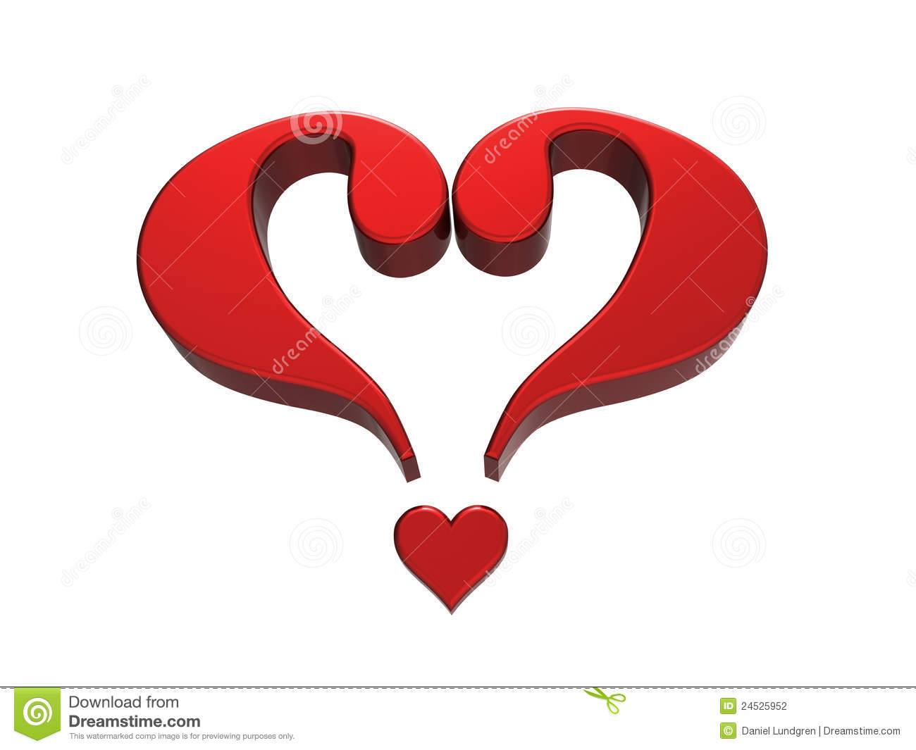 Question Mark Heart 1 Stock Photography - Image: 24525952