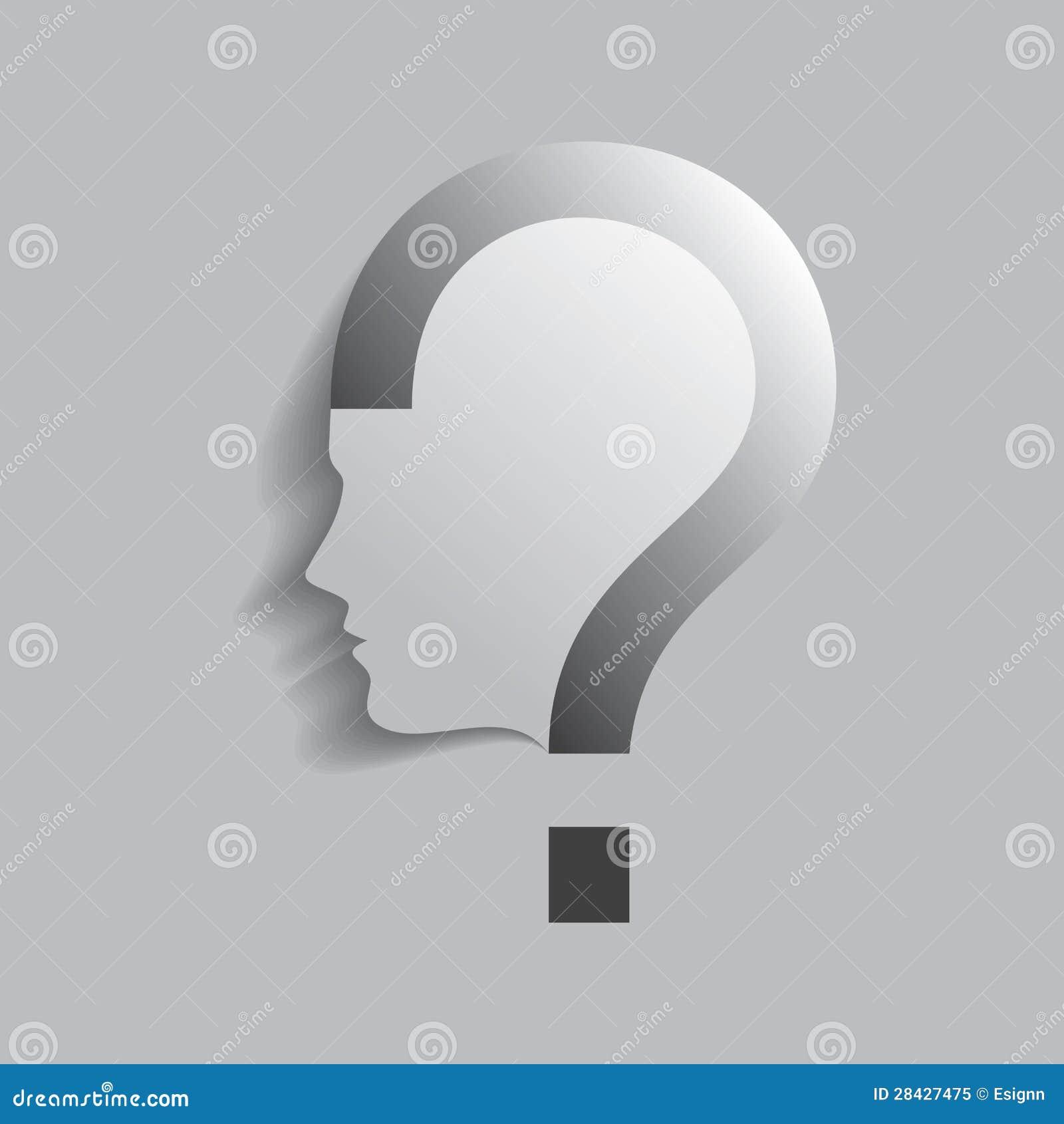 Question Mark Human Head Symbol Stock Vector - Illustration of ...
