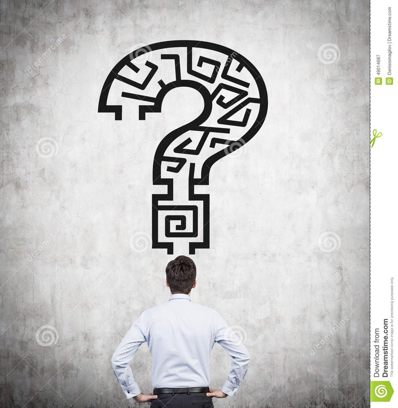Question Mark With Maze Stock Photo - Image: 49014687