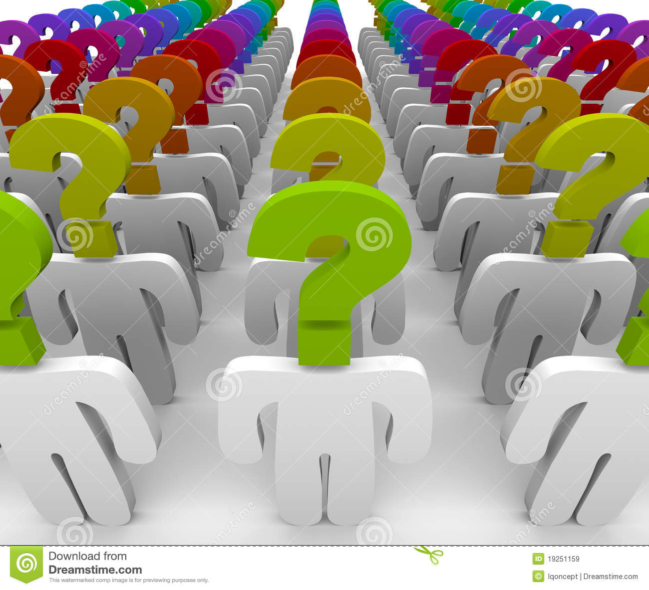 Question Mark People In Confusion And Wonder Stock Illustration ...