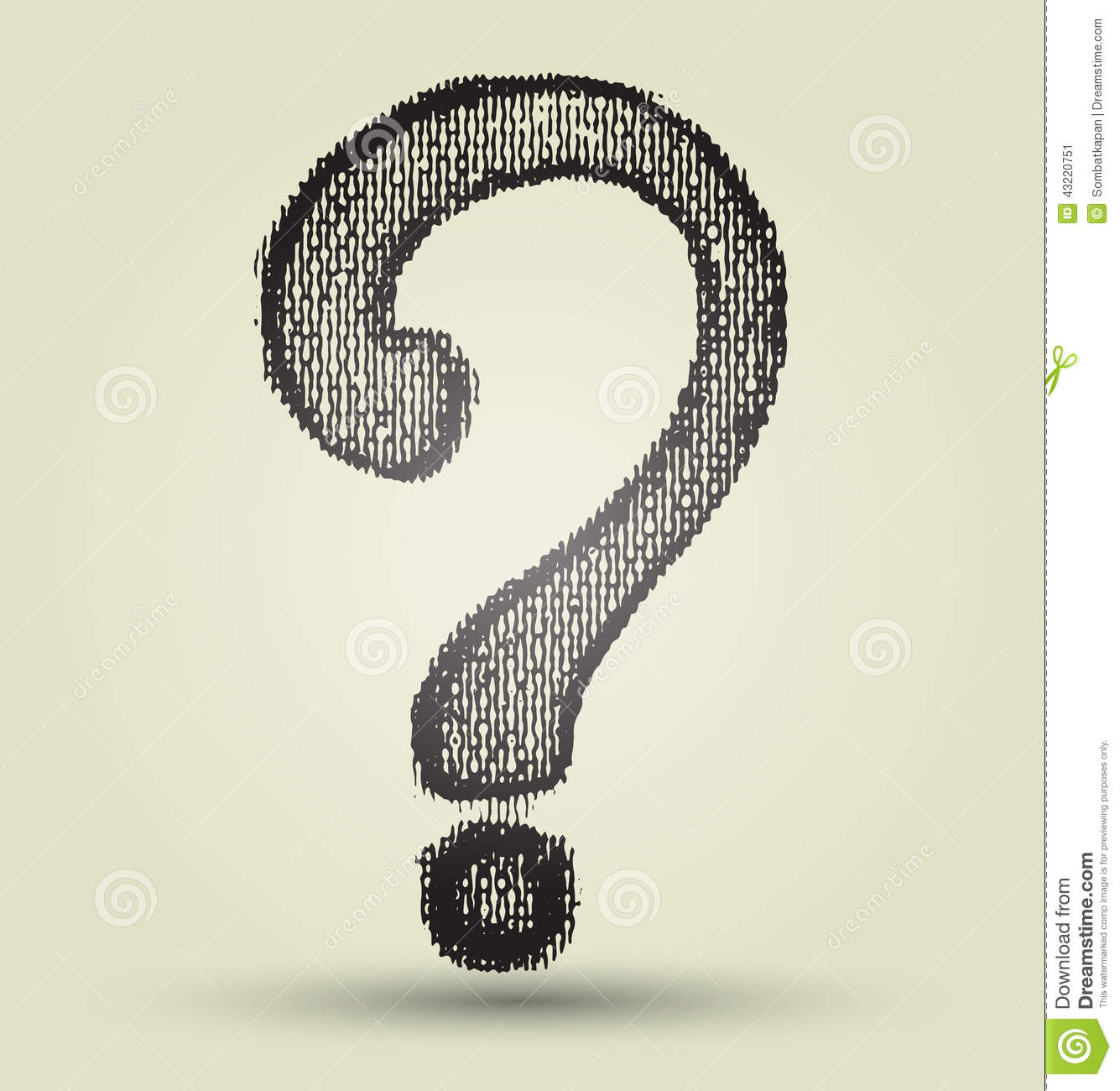 Cool Question Mark Design question mark sign drawing stock vector ...