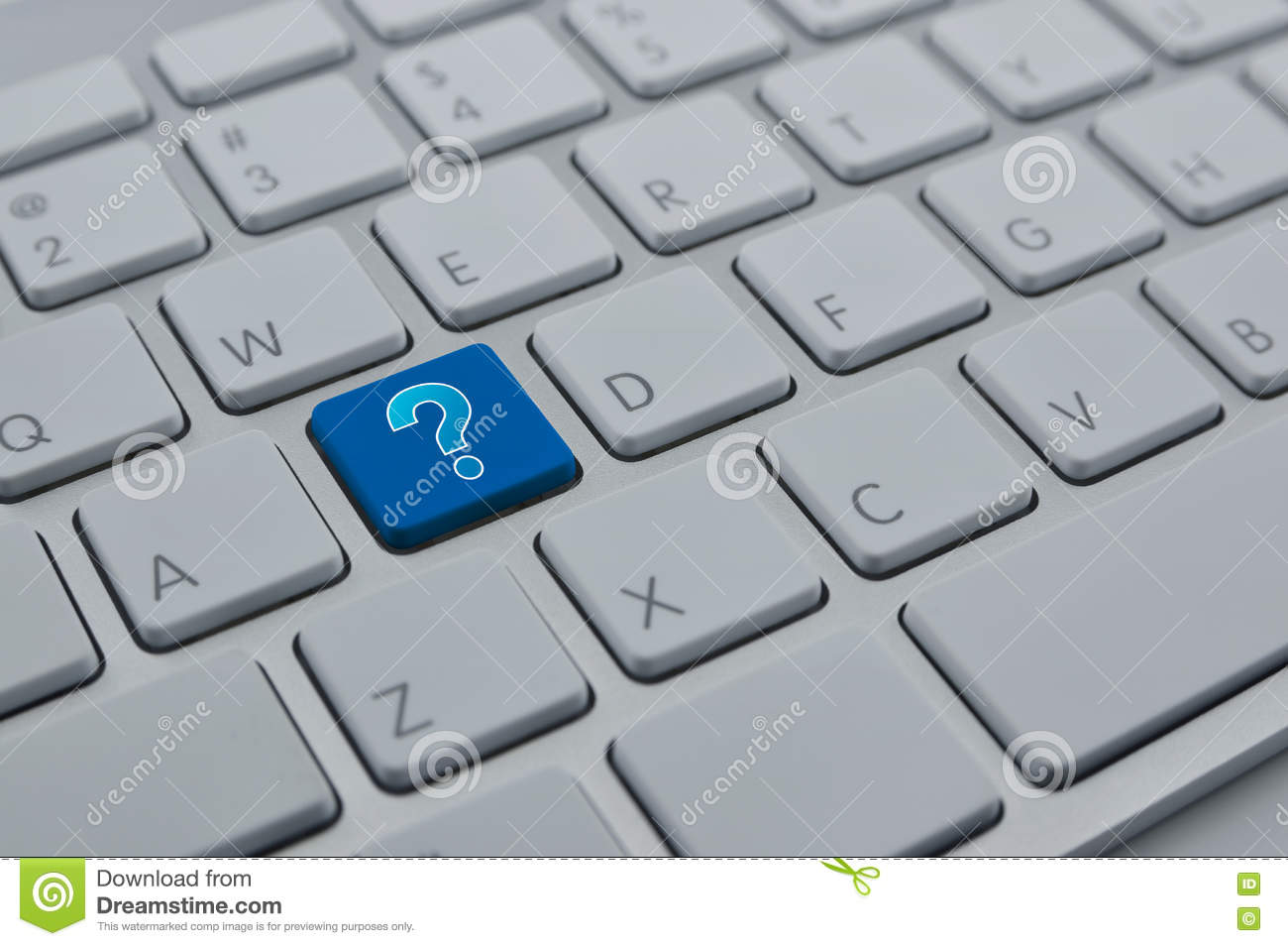 how to make question mark show up from keyboard key