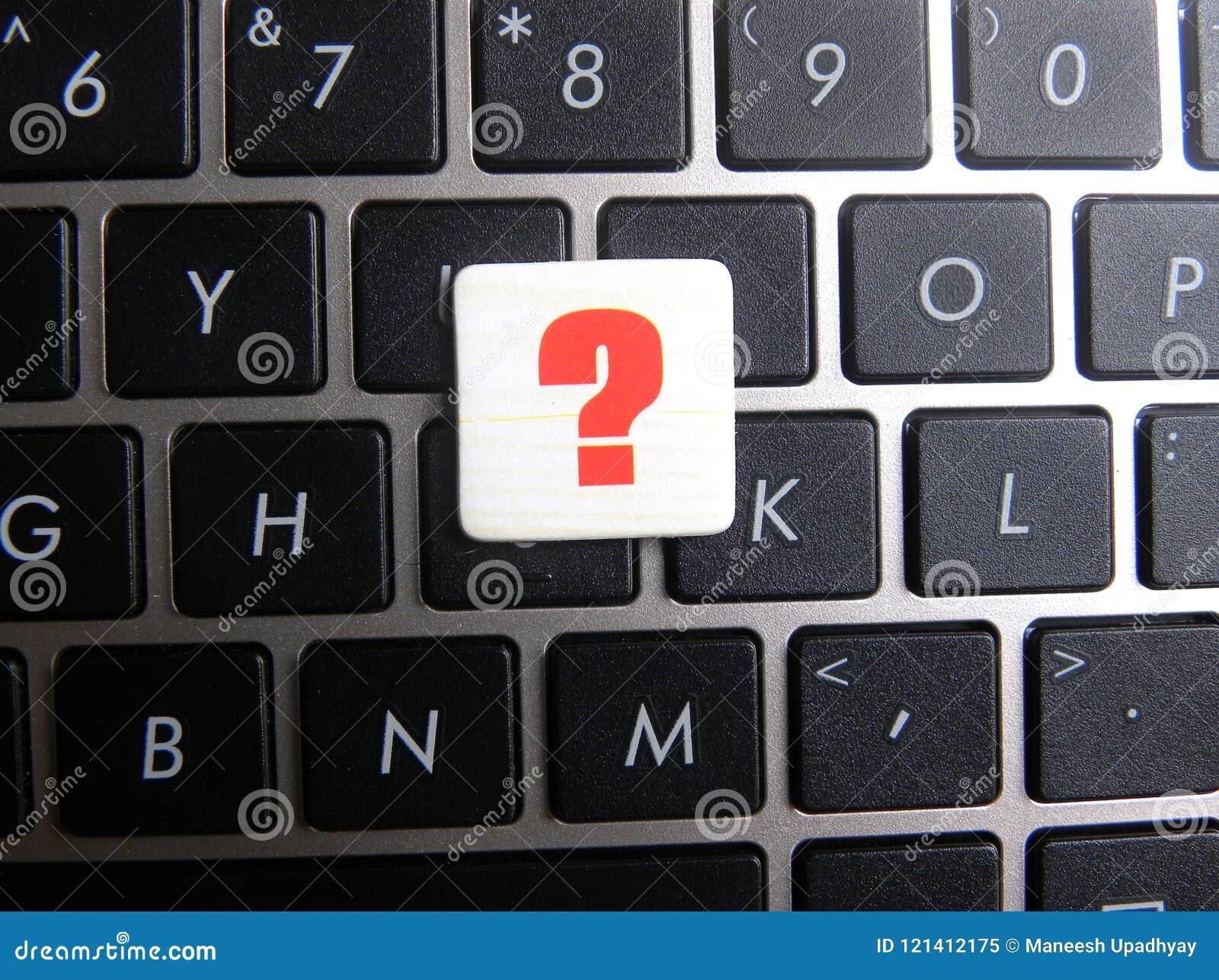 Question Mark Symbol On Keyboard Background Stock Image Image Of