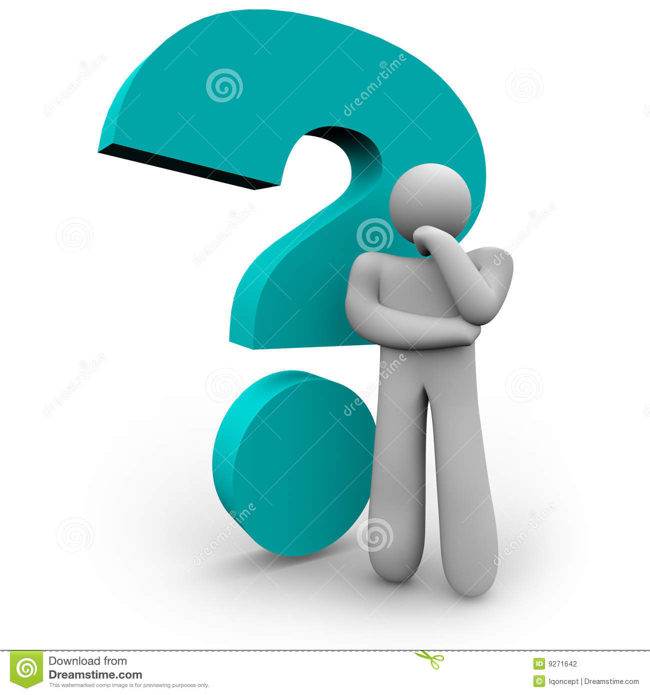 Any Questions Animation Question Mark and Thinker