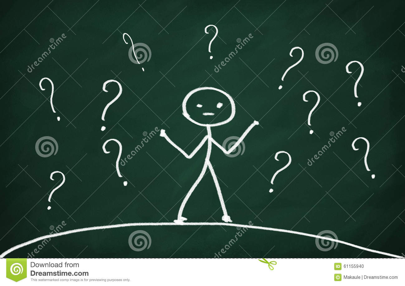 Scribble Drawing Question : Question marks stock illustration image