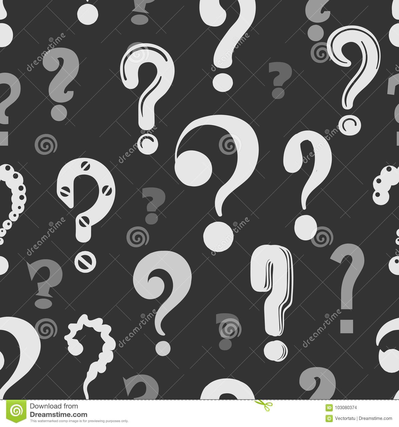 Question Marks Pattern Stock Vector Illustration Of