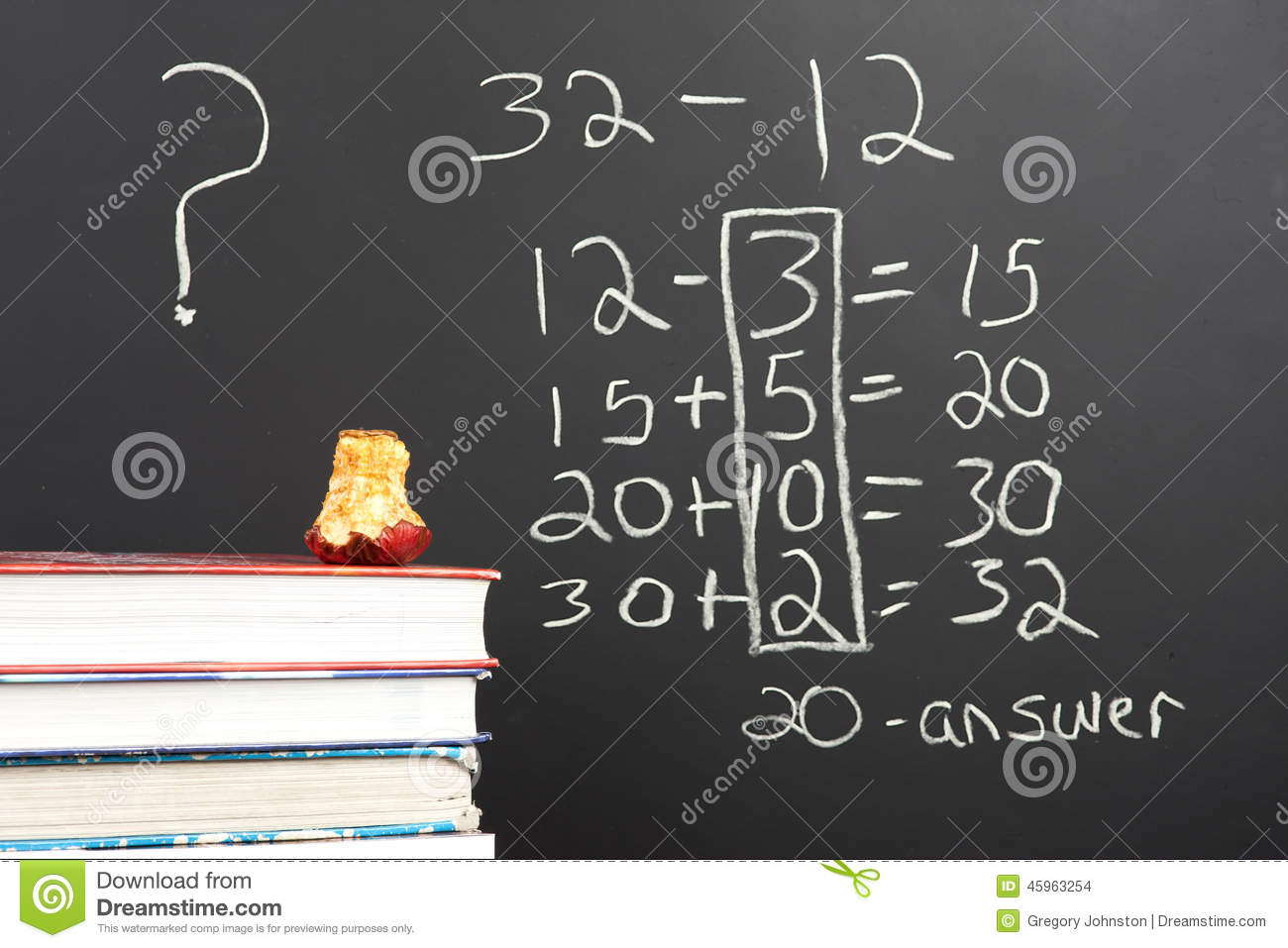 Modern Classroom Plan ~ Questioning the new math stock photo image