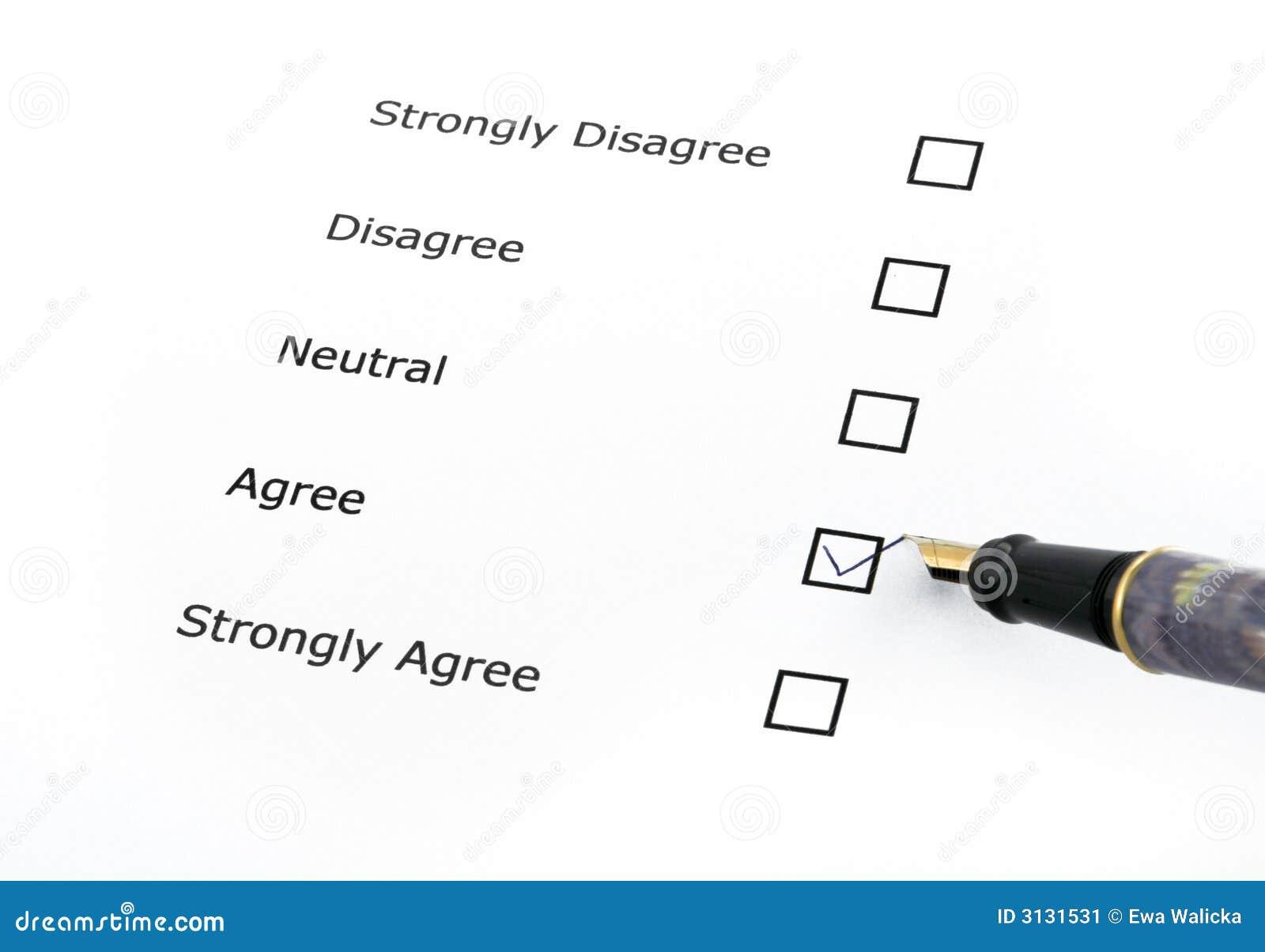 Questionnaire options