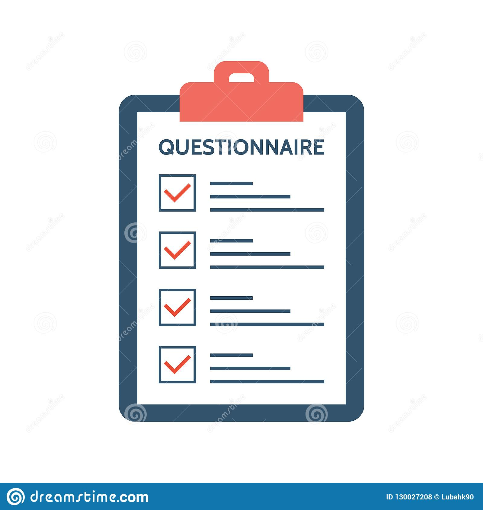 Questionnaire Survey And Report On A Clipboard Paper Feedback