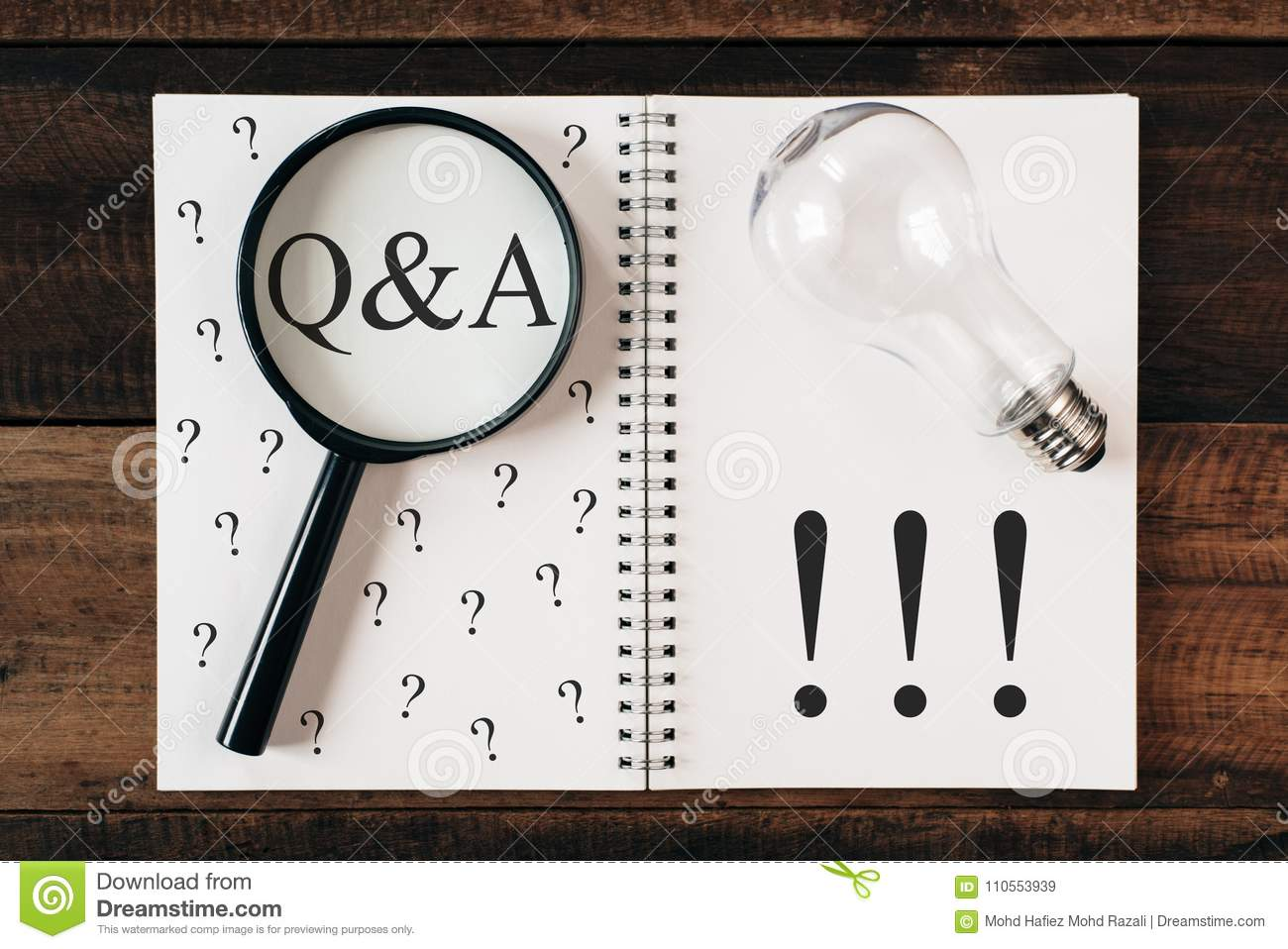 Questions and answers concept Q&A