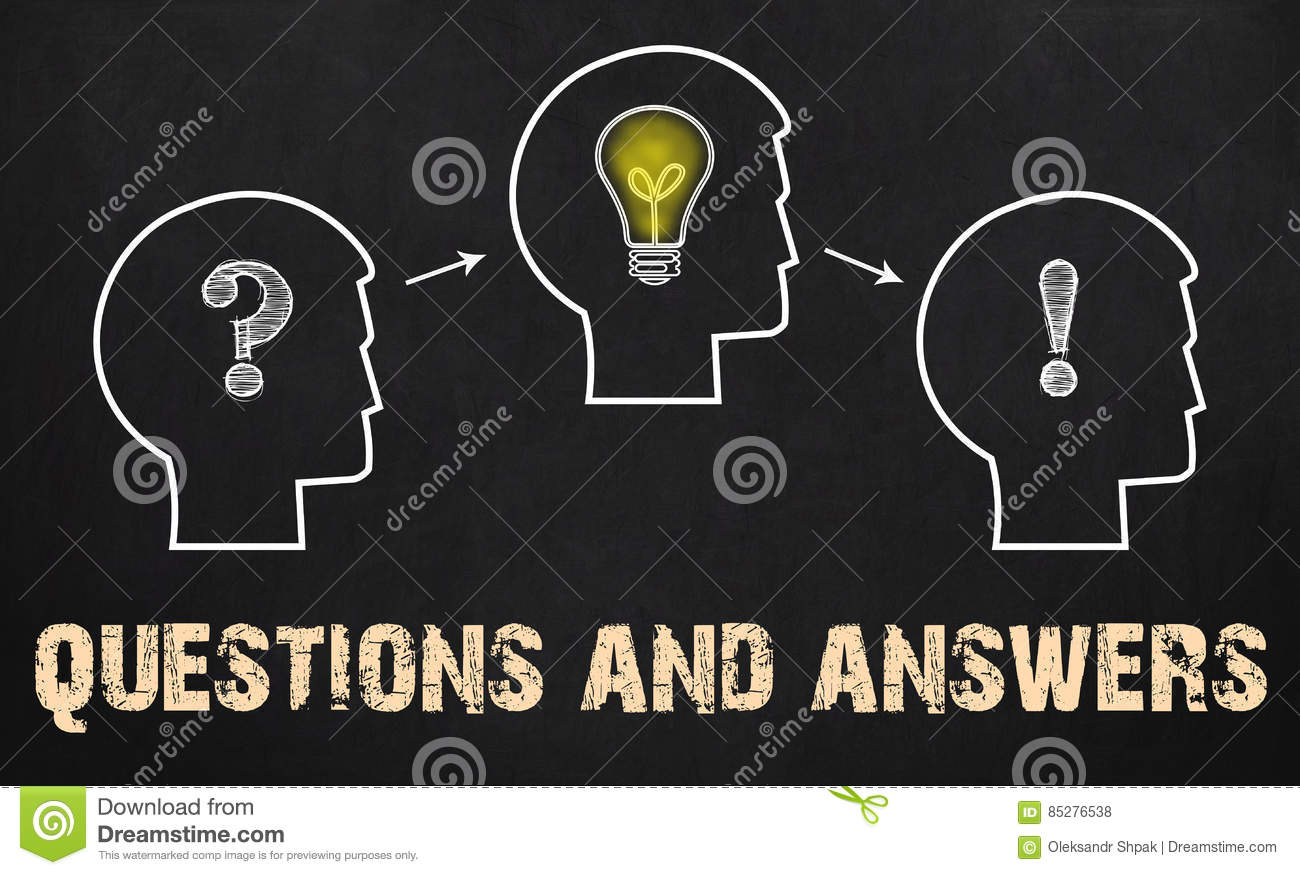 Questions and Answers - group of three people with question mark