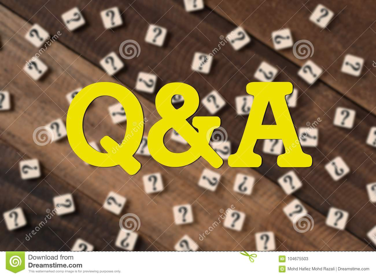 Questions and Answers Q&A concept