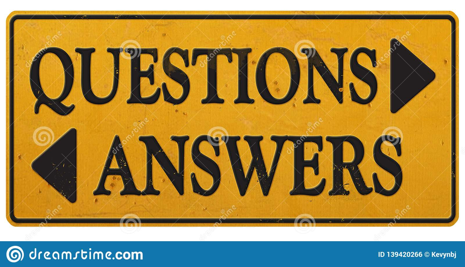 Questions & Answers Sign Business Communications Retro Office