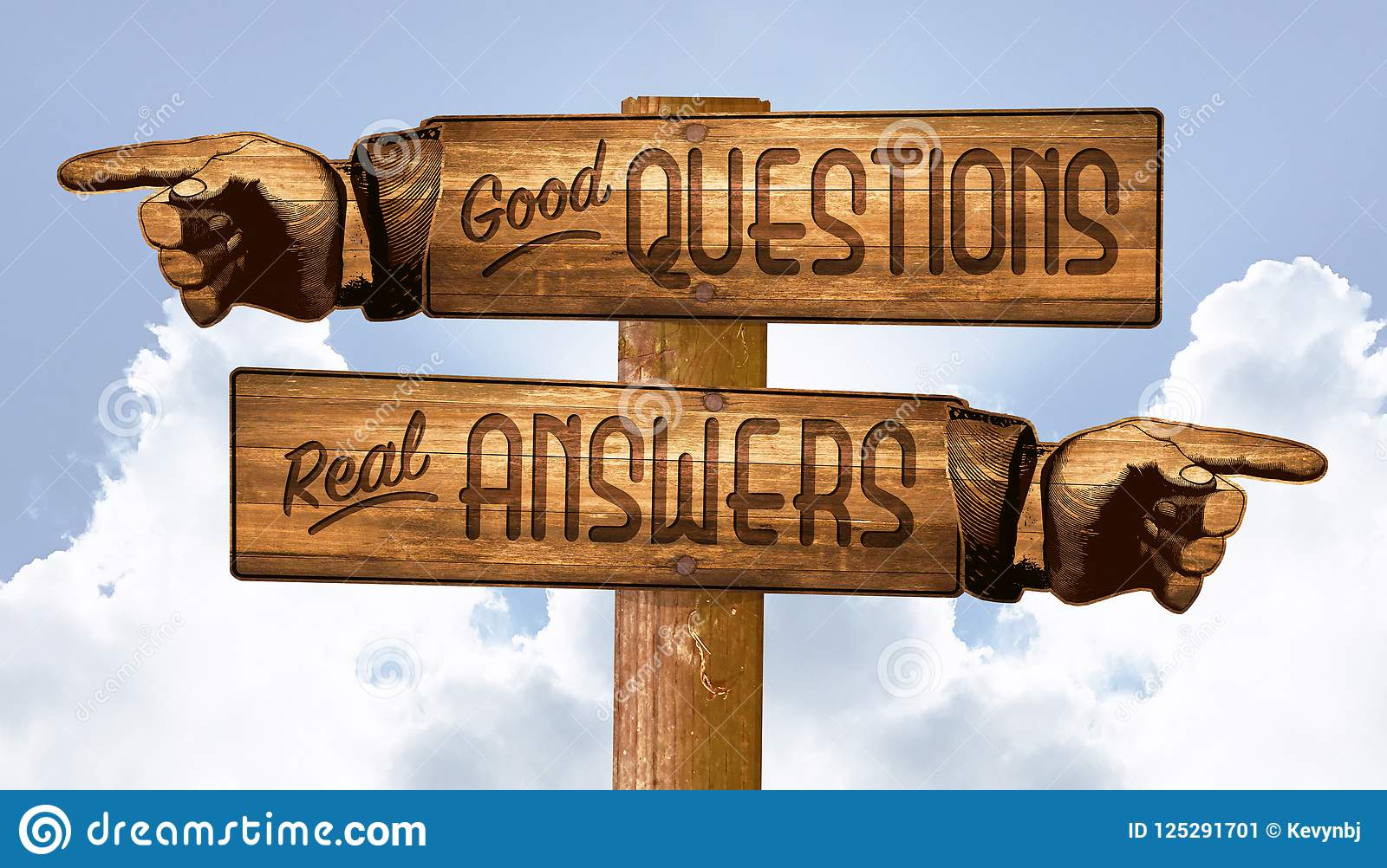 Questions and Answers Sign Pointing Fingers Q&A